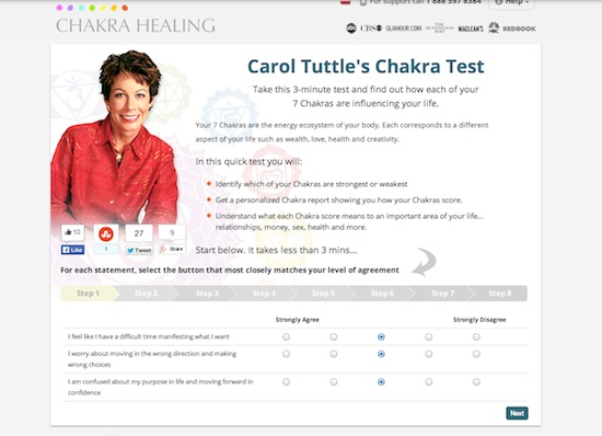 Carol Tuttle's chakra test