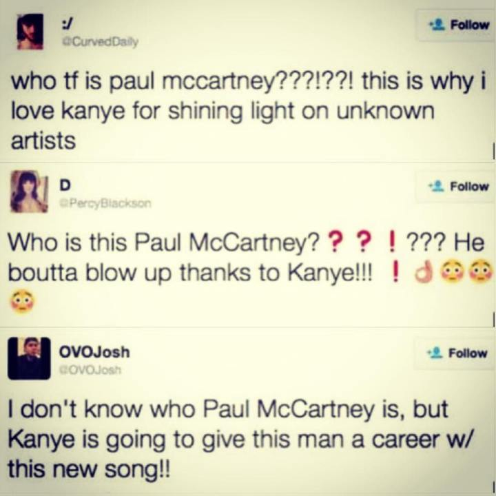 Kayne West vs Paul Mc Cartney