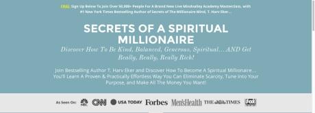Spiritual Millionaire Webinar